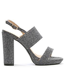 Daniel Mellen Metallic Block Heel Sandal