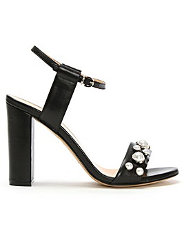 Daniel Pearl Embellished Leather Sandals