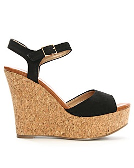 Daniel Sidra Open Toe Cork Wedge Sandal