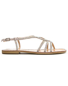 Daniel Kloss Twist Strap Diamante Sandal