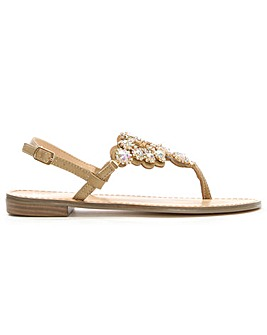 Daniel Palvin Jewelled Toe Post Sandal