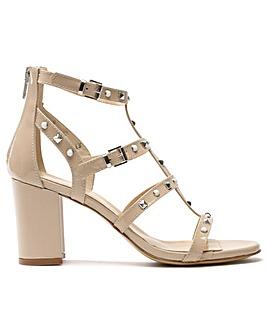 Daniel Tifftoff Patent Block Heel Sandal