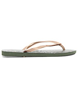 Havaianas Animals Metallic Flip Flop