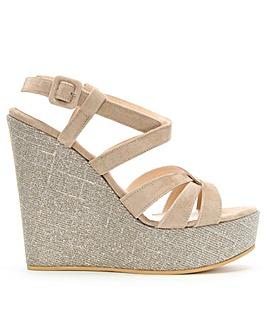 Daniel Atosita Sparkly Wedge Sandals