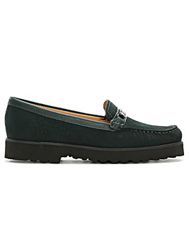 Daniel Guppy Suede Croc Embossed Loafers