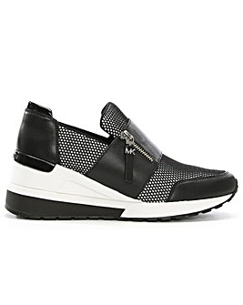 Michael Kors Mesh Wedge Zip Up Trainers