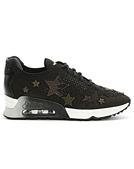 Ash Lucky Star Leather & Woven Trainer