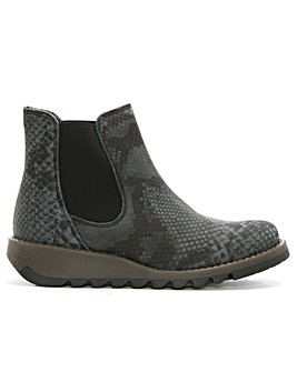 Fly London Reptile Wedge Chelsea Boots