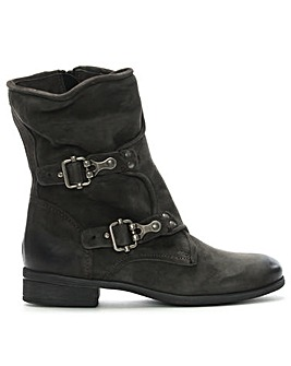 Daniel Manta Leather Buckle Biker Boots