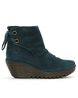 Fly London Suede Wedge Ankle Boots
