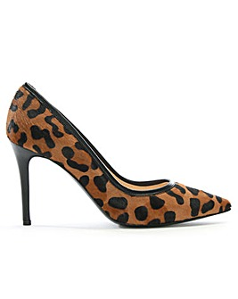 Daniel Affie Leopard Pointed Court Shoes
