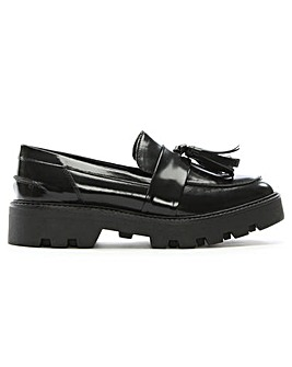 Daniel Aba Patent Tassel Moc Toe Loafers