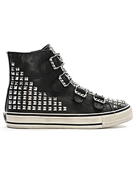 Ash Leather Studded High Top Trainers
