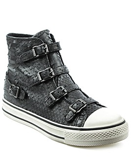 Ash Reptile Leather Hi Top Trainer