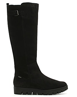 Hogl Sporty Suede Buckle Knee High Boots