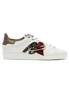 Hogl Applique Leather Lace Up Trainers
