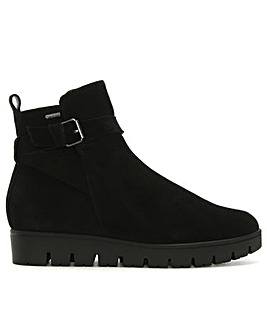 Hogl Sporty Suede Buckle Ankle Boots
