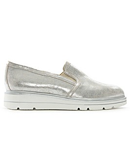 Daniel Alento Metallic Low Wedge Loafers