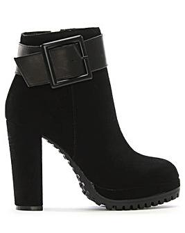 Daniel Merida Suede Platform Ankle Boots