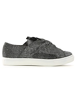 Daniel Storwood Metallic Bow Sneakers