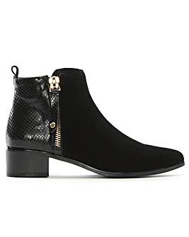 Daniel Belle Suede Contrast Ankle Boots