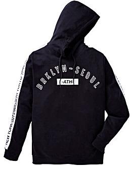 Label J Sleeve Print Hoodie Reg