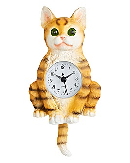 Cat Wall Pendulum Clock