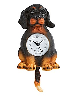Black Dog Wall Pendulum Clock