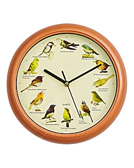 Bird Song Wall Clock
