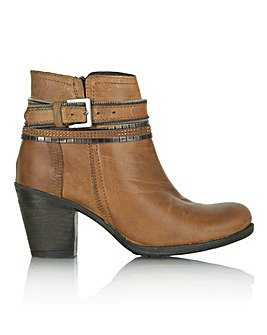 Daniel Loki Tan Leather Chain Ankle Boot