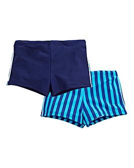 KD EDGE Boys Stripe Swim Shorts