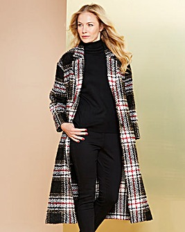 Simply Be Check Duster Coat