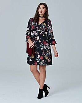 Simply Be Oriental Print Dress