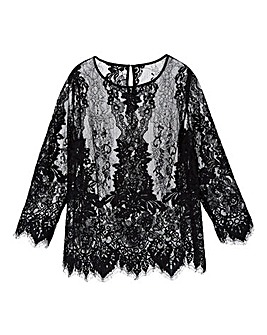 Simply Be Corded Lace Top
