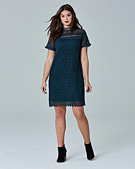 Simply Be Ruffle Trim Cut Work Dress