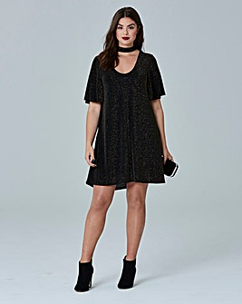 Simply Be Choker Swing Tunic Dress