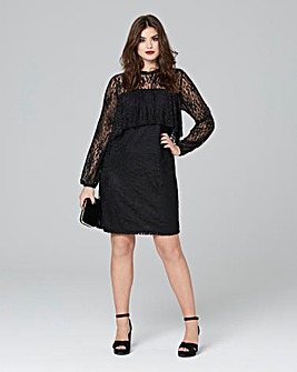 Simply be Ruffle Lace Midi Dress