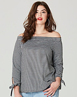 Simply Be Gingham Bardot Blouse