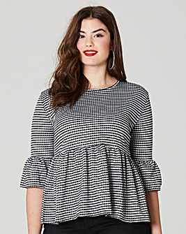 Simply Be Gingham Peplum Blouse