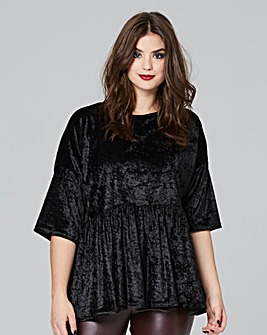Simply Be Velvet Peplum Blouse