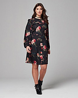 Simply Be Floral Print Dress