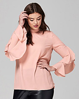 Simply Be Fluted Ruffle Sleeve Blouse