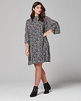 Simply Be Statement Sleeve Print Dress