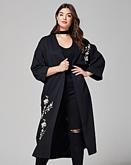 Simply Be Embroidered Kimono Jacket