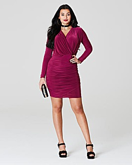 Simply Be by Night Ruched Wrap Dress