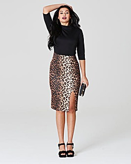 Simply Be Leopard Print Midi dress