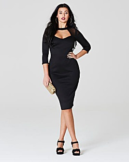 Simply be by Night Sweetheart Neck Dress