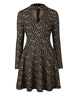 Simply Be by Night Leopard Choker Dress