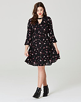 Simply Be Print Choker Swing Dress