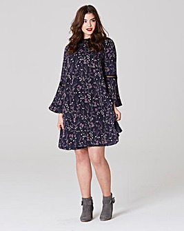 Simply Be Swing Floral Print Dress